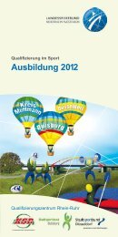 Ausbildung 2012 - Stadtsportbund Düsseldorf