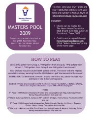 MASTERS POOL 2009 - the Henry House Foundation