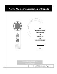 An Aboriginal Charter of Rights and Freedoms - Native Women's ...