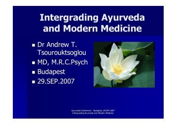 Intergrading Ayurveda and Modern Medicine