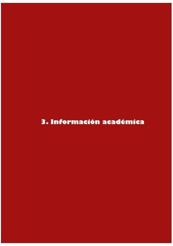 Capítulo 3. Información académica - UPSA