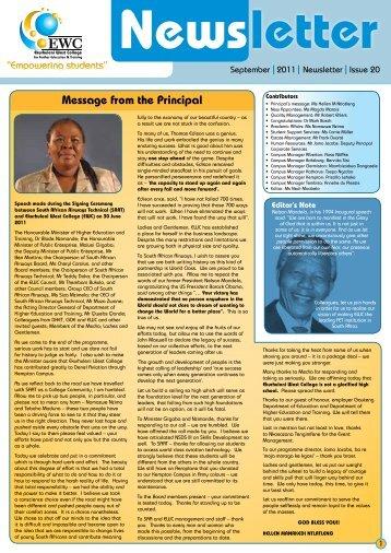 Issue 20 - Ekurhuleni West College