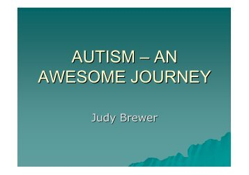 AUTISM – AN AWESOME JOURNEY