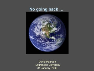 No going back … - Ontario Centre for Climate Impacts and ...