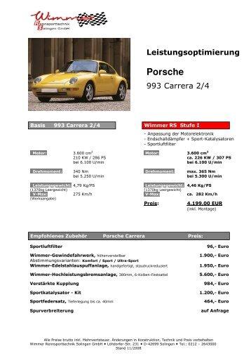 993 Carrera 285PS Stufe I-III