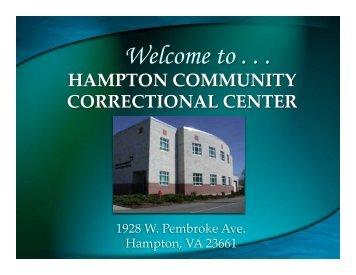 Hampton Community Correctional Center Guidelines