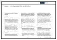 Regler og retningslinjer for Puljeinvest (pdf) - Danske Bank