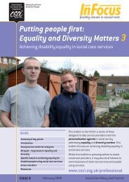 Equality and Diversity Matters 3 - Think Local Act Personal