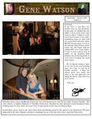 September – October 2009 Volume 9 Hi Friends – It ... - Gene Watson
