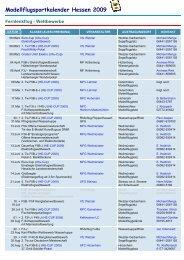 Modellflugsportkalender Hessen 2009
