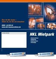 HKL Mietpark - HKL Baushop