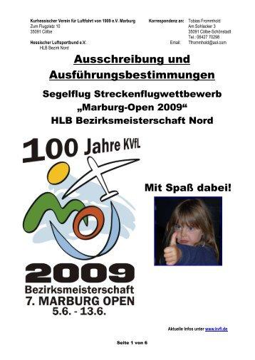 Marburg-Open 2009 - Hessischer Luftsportbund eV