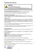 bedienungsanleitung sf-1000 nebelmaschine - Seite 7