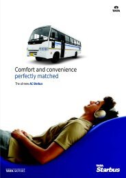Comfort and convenience perfectly matched - Buses - Tata Motors