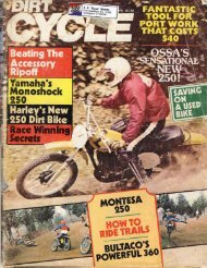 Dirt Cycle Dec 1975 - MSC History
