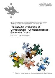 RC-Specific Evaluation of CompDisGen - Helsinki.fi