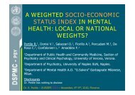 a weighted socio-economic status index in mental health