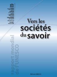 Vers les sociétés du savoir - Chaire UNESCO de développement ...