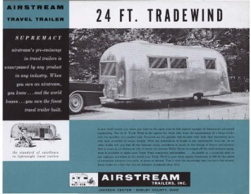 24 FT. TRADEWIND - Airstream