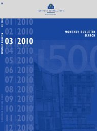 Monthly Bulletin March 2010 - European Central Bank - Europa