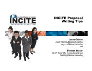 INCITE Proposal Writing Tips