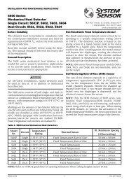 5600 Series Mechanical Heat Detector Single Circuit: 5601P, 5602 ...