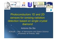 2D photoconductor sensors for ionising radiation detection based on ...