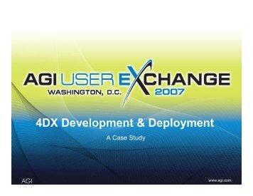 4DX Development & Deployment - AGI