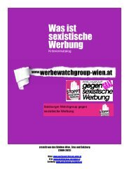 Kriterienkatalog für Sexismus in der Werbung - Watchgroup GEGEN ...