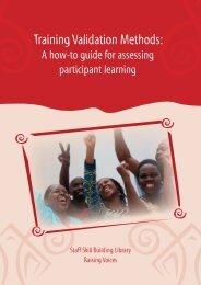 Training Validation Methods: - Raising Voices