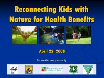 Reconnecting Kids with Nature for Health Benefits - Society for ...