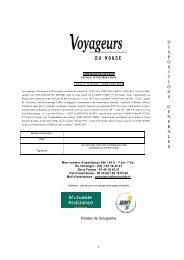 D I S P O S I T I O N S G E N E R A L E S - Voyageurs du Monde