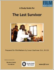 The Last Survivor - Toronto Jewish Film Festival