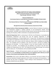 Admission Notification and Application form for PGDSRD Fifth Batch