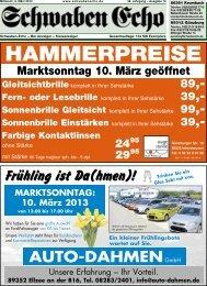 HAMMERPREISE - Schwaben Echo
