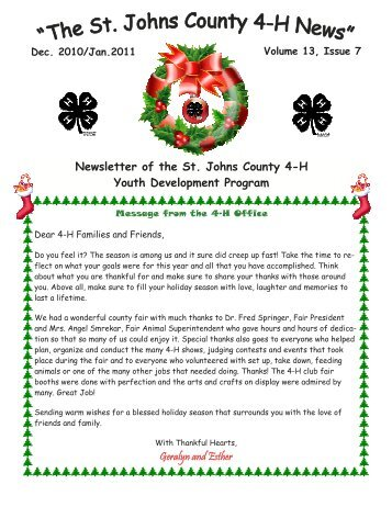 4-h pie contest - St. Johns County Extension Office - University of ...
