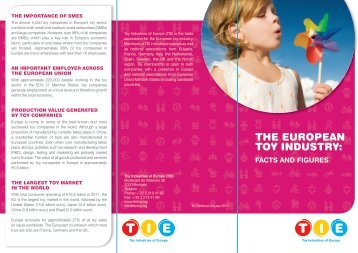 The European Toy Industry: Facts and Figures - Toy Industries of ...