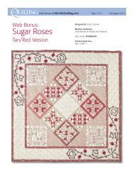 FREE Sugar Roses 2012 Series Bed Quilt Pattern ... - McCalls Quilting