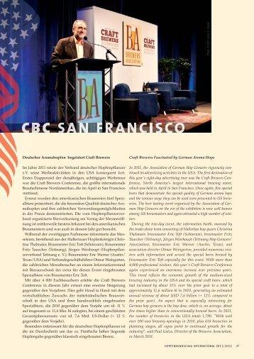 Deutscher Aromahopfen begeistert / Craft Brewers CBC San Francisco