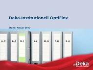 Deka-Institutionell OptiFlex Produktkonzept