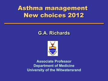 Asthma management New choices 2012
