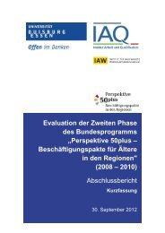 """Evaluation der Zweiten Phase des Bundesprogramms """"Perspektive ..."""