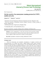 On the security of an anonymous roaming protocol in UMTS mobile ...