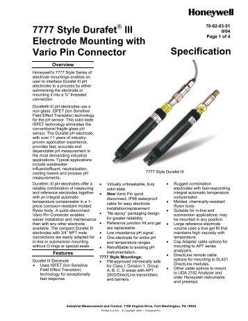 7794 DVP Sanitary Durafet III pH Electrodes