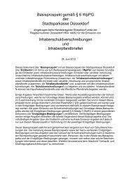 Basisprospekt 2012 - Stadtsparkasse Düsseldorf