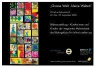 """""""Grosse Welt - kleine Welten"""" - Züriwerk"""