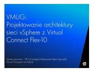 VMUG: Projektowanie architektury sieci vSphere z Virtual Connect ...