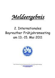 2. Internationales Bayreuther Frühjahrsmeeting am 13.-15. Mai 2011