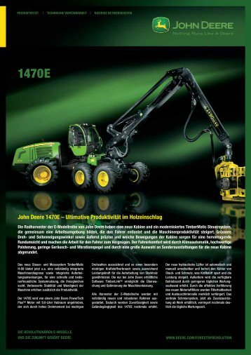 John Deere 1470E – Ultimative Produktivität im Holzeinschlag