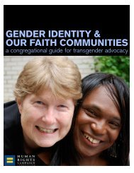 Gender Identity and Our Faith Communities: A Congregational ...